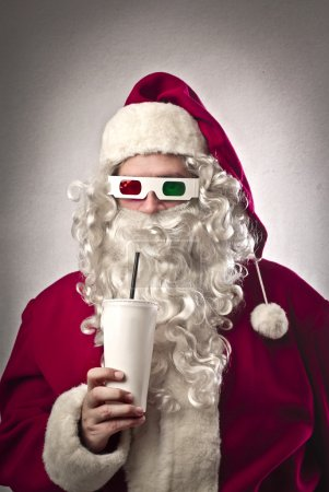 Photo for Santa Claus with three-dimensional glasses - Royalty Free Image