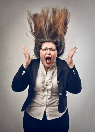 Photo for Angry businesswoman screaming - Royalty Free Image
