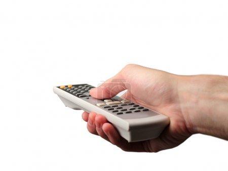 Photo pour Main avec télécommande - image libre de droit