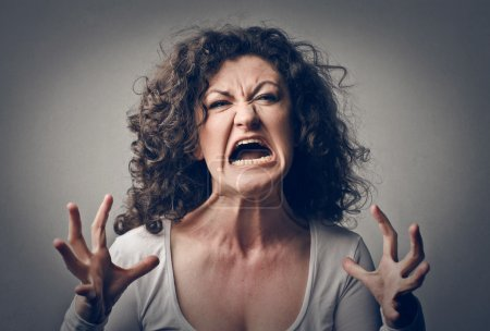 Photo for Furious woman screaming - Royalty Free Image