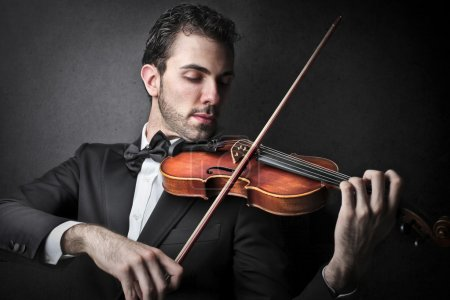 Photo for Musician playing a violin - Royalty Free Image