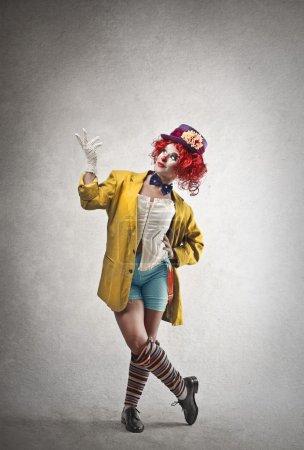 Beautiful happy clown