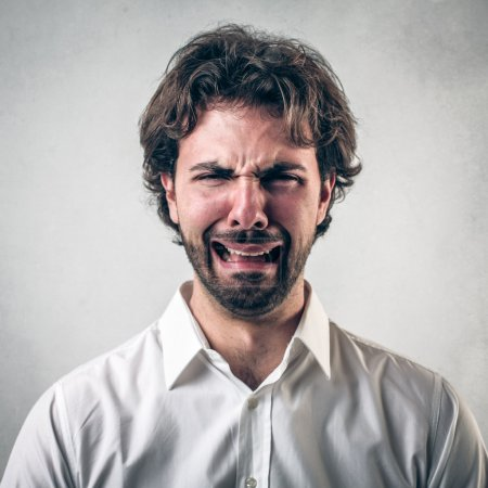 Photo for Handsome sad man with beard and with a desperate expression - Royalty Free Image