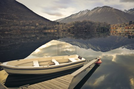 Empy boat in a lake