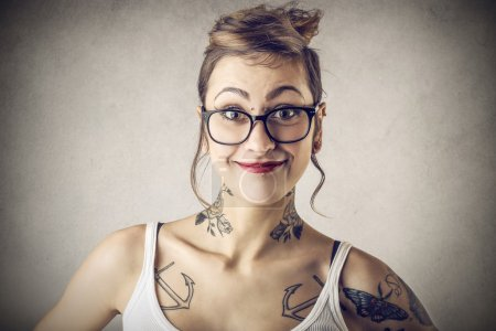 Photo for A nice girl with many tattoos - Royalty Free Image