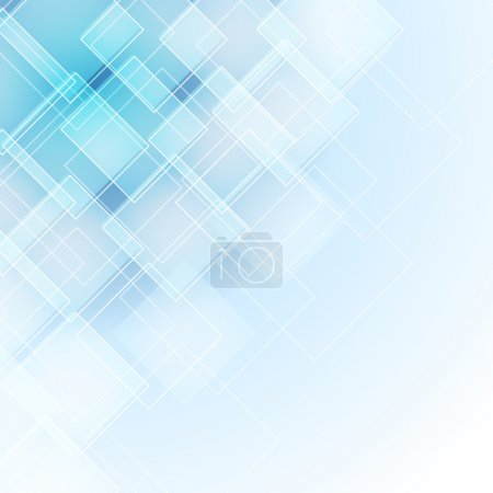 Illustration for Abstract blue background with rhombus - Royalty Free Image