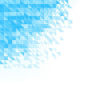 """Постер, картина, фотообои """"Абстрактный синий фон с треугольники, квадраты и линии"""""""