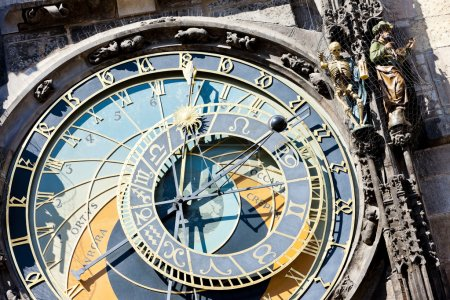 Detail of horloge at Old Town Square, Prague, Czech Republic