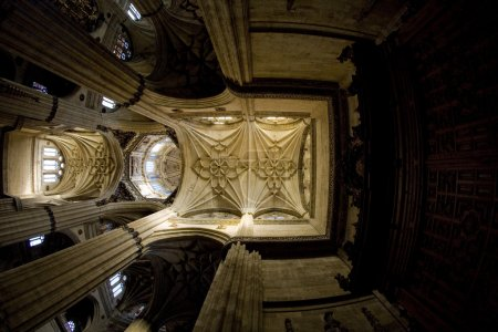 Interior of cathedral in Salamanca, Castile and Leon, Spain