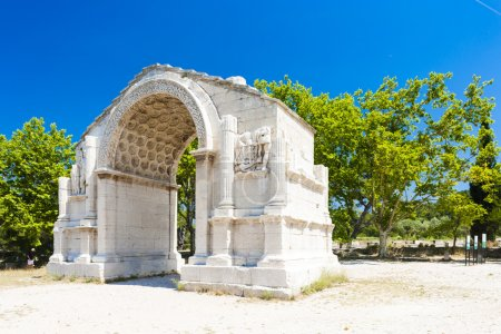 Photo pour Arc de triomphe romain, glanum, saint-Rémy-de-provence, provence, france - image libre de droit
