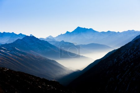 Photo for View from Furkapass to Andermatt, canton Graubunden, Switzerland - Royalty Free Image