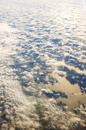 Clouds above ocean
