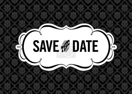 Illustration for Vector Save the Date Ornate Frame. Easy to edit. Perfect for invitations or announcements. - Royalty Free Image