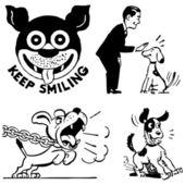 Vector Retro Dog Graphics Print