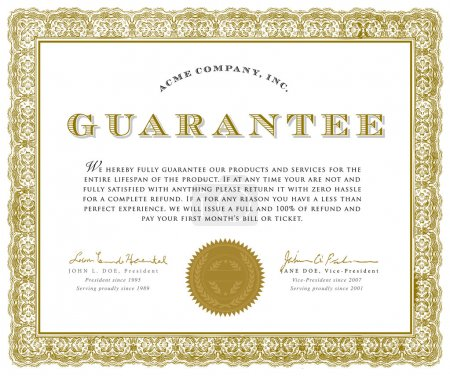 Illustration for Vector Guarantee Certificate. Easy to edit. All pieces are separated. - Royalty Free Image