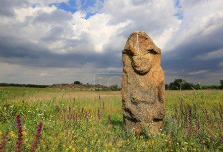 Photo pour Idole en pierre dans le musée de la tombe en pierre, Ukraine - image libre de droit