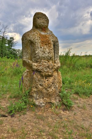 old stone idol