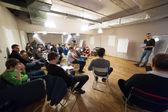 Publikum bei Modellierung der creative Clusters workshop