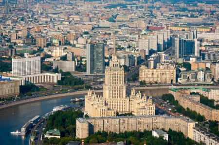 Photo for Day-time aerial view of Moscow, Russia. - Royalty Free Image