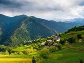 Landschaft Ieli Dorfes in Swanetien