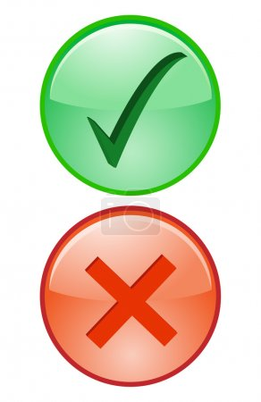 Yes No Tick Cross Right Wrong accept decline Icon