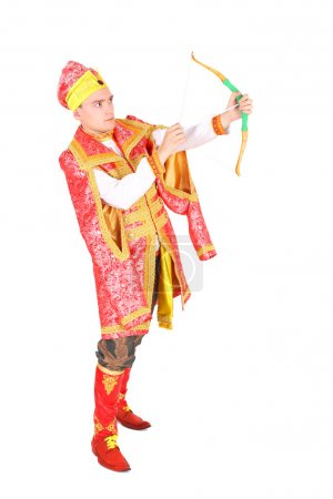Young actor in the role of russian prince named Iv...