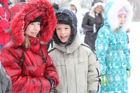 Winter childrens outdoors