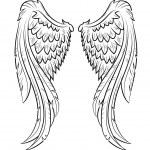 Vector illustration wings, EPS 10...