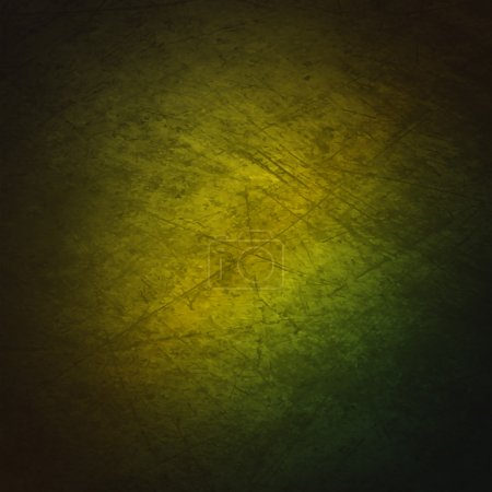 Illustration for A grunge textured background with a gradient of green. - Royalty Free Image