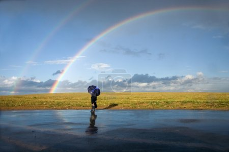 auf die Begegnung mit dem Regenbogen