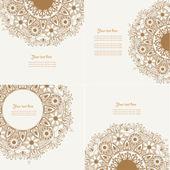 Set of Four Decorative Vintage Design Element