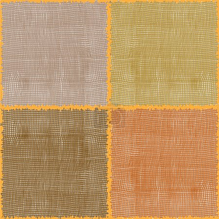 Stylized cotton textures in seamless square composition