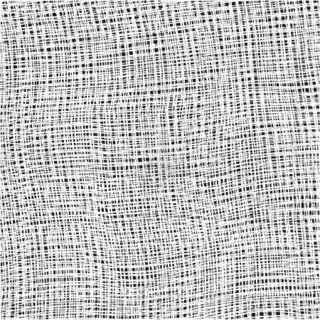 tissu de coton texturé d'armure de blanc sur fond noir