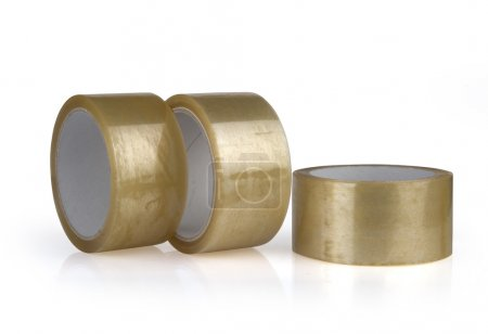 Transparent adhesive tapes