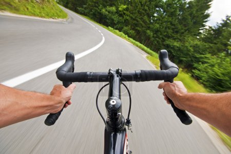 Photo for Road cycling wide angle speed shoot - Royalty Free Image