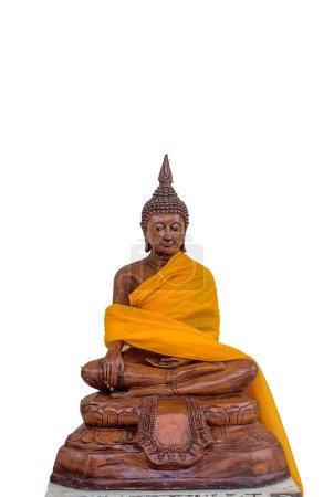Buddha statue on white background