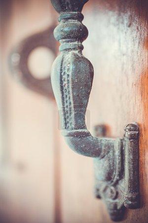 Part of Old doorhandle. Macro