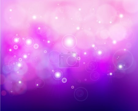Pink shine background with stars. Vector