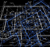 Blueprint abstraktní tmavé pozadí. vektor