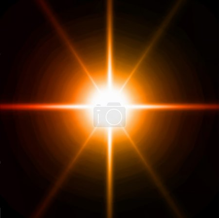 Light burst, fireworks, lens flare. Vector