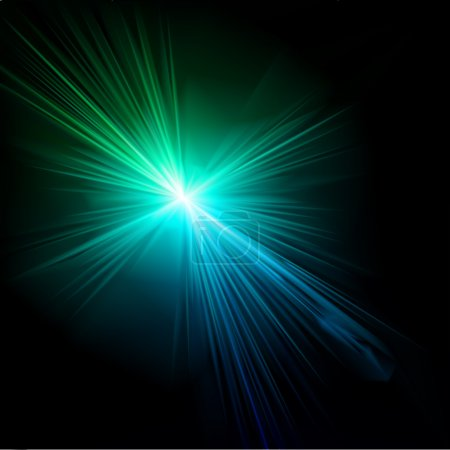 Light flare blue effect. Vector. Vector