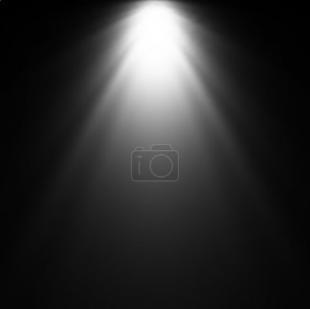 Light Beam From Projector. Vector illustration