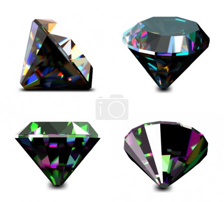 Set of jewelry gems. Vector