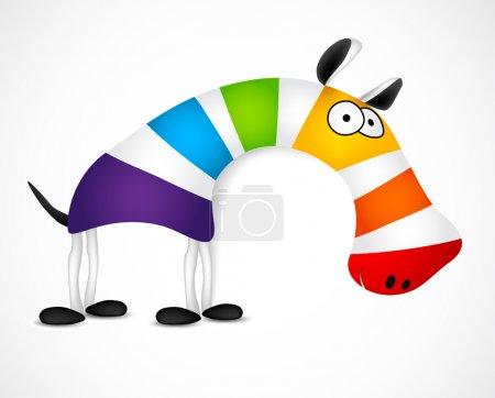 Illustration for Colored striped zebra. Vector illustration - Royalty Free Image