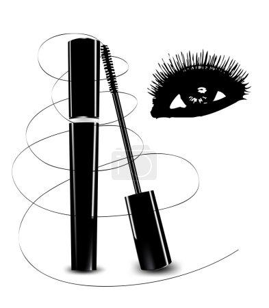 Illustration pour Encre pour cils et yeux. Illustration vectorielle - image libre de droit
