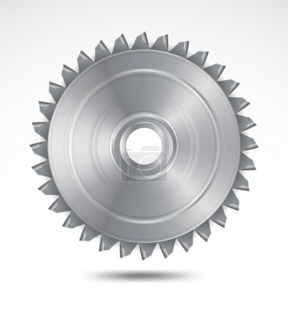 Circular saw blade. Vector illustration