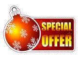 Speciální nabídka popisek s vánoční koule a sněhové vločky