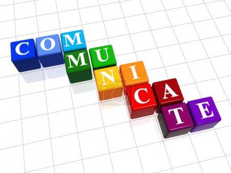 Photo pour 3D couleur zones de texte - communiquer, mot - image libre de droit