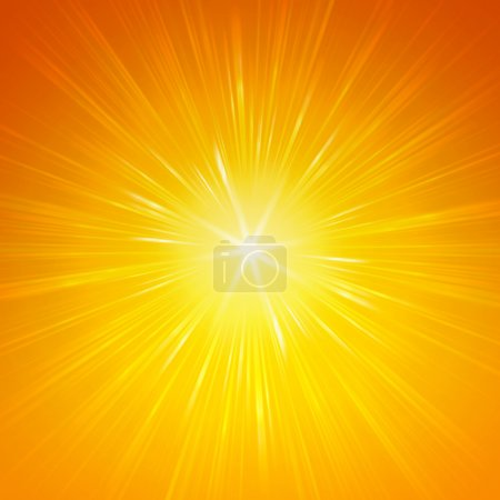 Photo for Yellow star with shining light rays, abstract background - Royalty Free Image