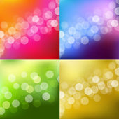 Color Lights Background With Bokeh